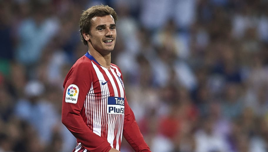 MADRID, SPAIN - SEPTEMBER 29:  Antoine Griezmann of Club Atletico de Madrid reacts during the La Liga match between Real Madrid CF and Club Atletico de Madrid at Estadio Santiago Bernabeu on September 29, 2018 in Madrid, Spain.  (Photo by Quality Sport Images/Getty Images)