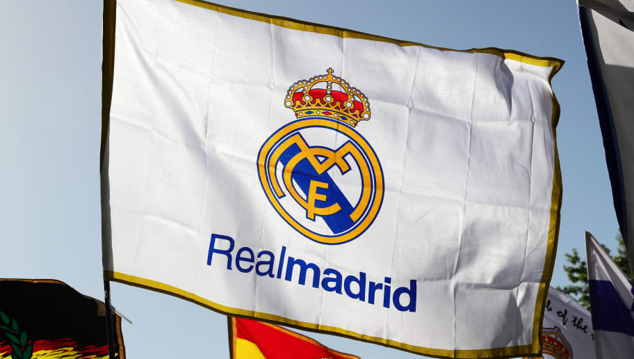 MADRID, SPAIN - APRIL 18: A Real Madrid CF flag flies outside the stadium ahead of the UEFA Champions League Quarter Final second leg match between Real Madrid CF and FC Bayern Muenchen at Estadio Santiago Bernabeu on April 18, 2017 in Madrid, Spain. (Photo by Chris Brunskill Ltd/Getty Images)
