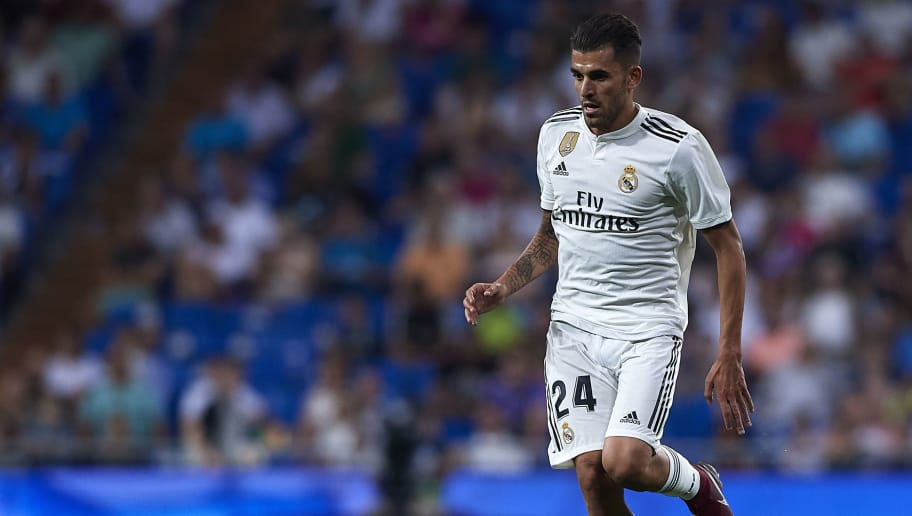 MADRID, SPAIN - AUGUST 19:  Dani Ceballos of Real Madrid runs with the ball during the La Liga match between Real Madrid CF and Getafe CF at Estadio Santiago Bernabeu on August 19, 2018 in Madrid, Spain.  (Photo by Quality Sport Images/Getty Images)