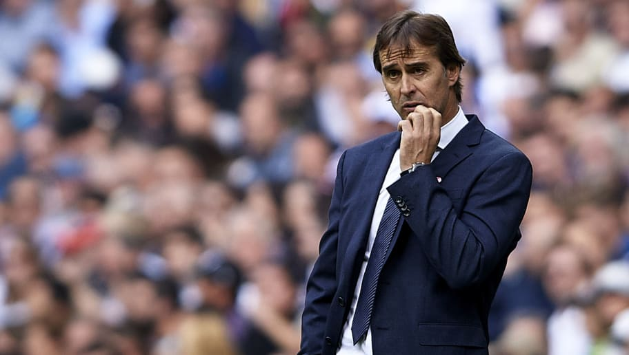MADRID, SPAIN - OCTOBER 20:  Julen Lopetegui, Manager of Real Madrid reacts during the La Liga match between Real Madrid CF and Levante UD at Estadio Santiago Bernabeu on October 20, 2018 in Madrid, Spain.  (Photo by Quality Sport Images/Getty Images)