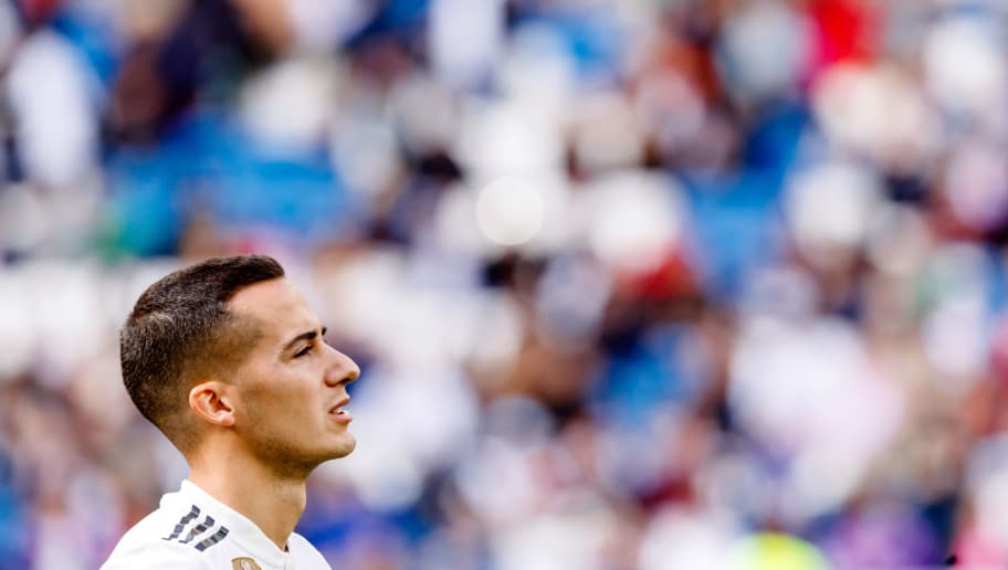 MADRID, SPAIN - OCTOBER 20: Lucas Vazquez of Real Madrid looks on during the La Liga match between Real Madrid CF and Levante UD at Estadio Santiago Bernabeu on October 20, 2018 in Madrid, Spain. (Photo by TF-Images/Getty Images)