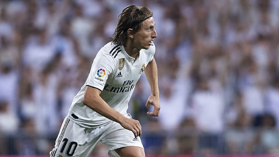 MADRID, SPAIN - SEPTEMBER 22:  Luka Modric of Real Madrid in action during the La Liga match between Real Madrid CF and RCD Espanyol at Estadio Santiago Bernabeu on September 22, 2018 in Madrid, Spain.  (Photo by Quality Sport Images/Getty Images)