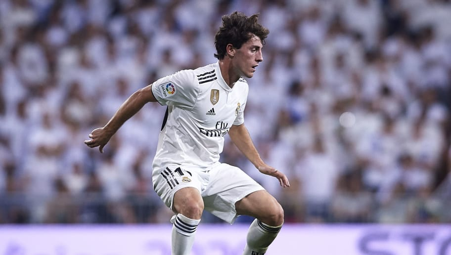 MADRID, SPAIN - SEPTEMBER 22:  Alvaro Odriozola of Real Madrid in action during the La Liga match between Real Madrid CF and RCD Espanyol at Estadio Santiago Bernabeu on September 22, 2018 in Madrid, Spain.  (Photo by Quality Sport Images/Getty Images)