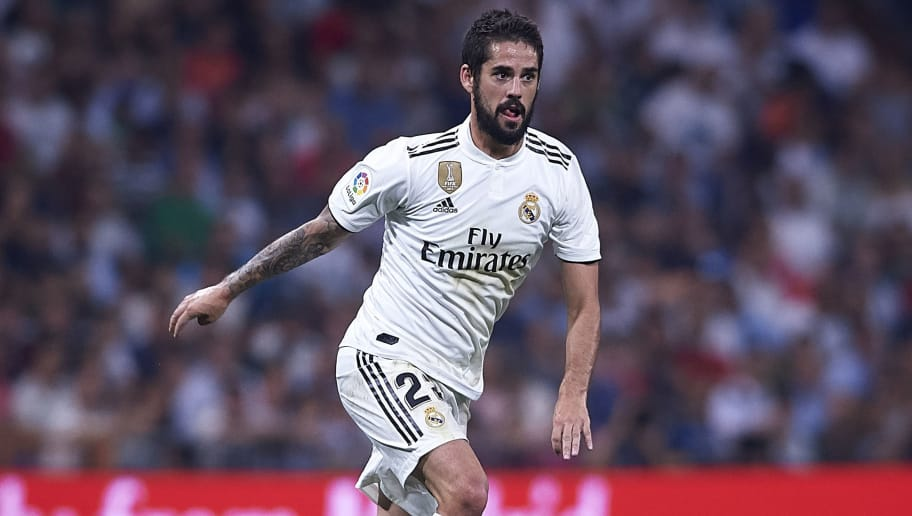 MADRID, SPAIN - SEPTEMBER 22:  Isco Alarcon of Real Madrid in action during the La Liga match between Real Madrid CF and RCD Espanyol at Estadio Santiago Bernabeu on September 22, 2018 in Madrid, Spain.  (Photo by Quality Sport Images/Getty Images)