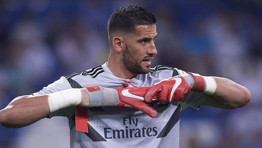MADRID, SPAIN - SEPTEMBER 22:  Kiko Casilla of Real Madrid warms up prior to the the La Liga match between Real Madrid CF and RCD Espanyol at Estadio Santiago Bernabeu on September 22, 2018 in Madrid, Spain. (Photo by Quality Sport Images/Getty Images)