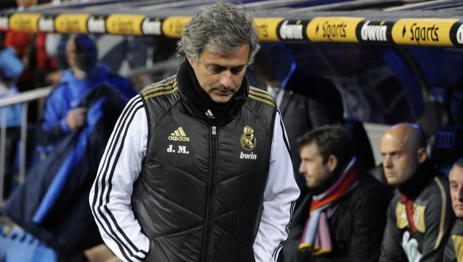 Real Madrid's Portuguese coach Jose Mour