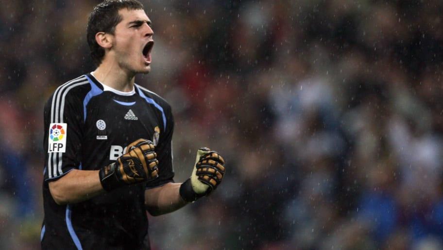 Real Madrid's Spanish goalkeeper Iker Ca