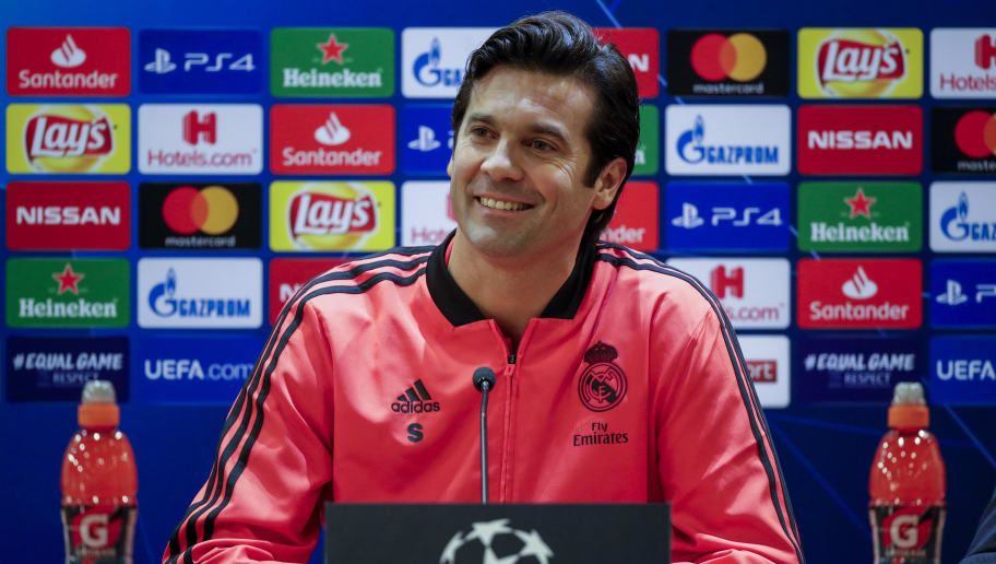 ROME, ITALY - NOVEMBER 26: coach Santiago Solari of Real Madrid during the   Real Madrid Training and Press Conference on November 26, 2018 in Rome Italy (Photo by David S. Bustamante/Soccrates/Getty Images)