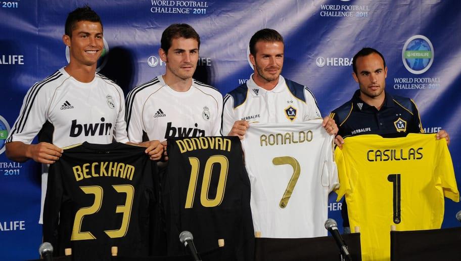 Cristiano Ronaldo,David Beckham,Iker Casillas,Landon Donovan