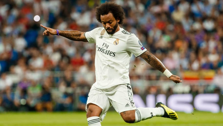 MADRID, SPAIN - SEPTEMBER 19: Marcelo Vieira of Real Madrid controls the ball during the UEFA Champions League Group G match between Real Madrid and AS Roma at Bernabeu on September 19, 2018 in Madrid, Spain. (Photo by TF-Images/Getty Images)