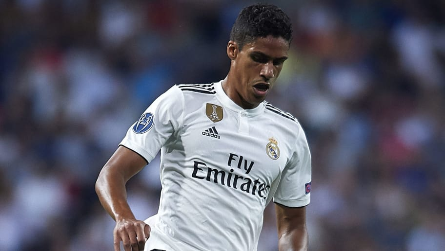 MADRID, SPAIN - SEPTEMBER 19:  Raphael Varane of Real Madrid in action during the Group G match of the UEFA Champions League between Real Madrid  and AS Roma at Bernabeu on September 19, 2018 in Madrid, Spain. (Photo by Quality Sport Images/Getty Images)
