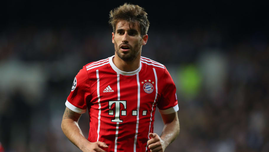 MADRID, SPAIN - MAY 01: Javi Martinez of Bayern Munich during the UEFA Champions League Semi Final Second Leg match between Real Madrid and Bayern Muenchen at the Bernabeu on May 1, 2018 in Madrid, Spain. (Photo by Catherine Ivill/Getty Images)