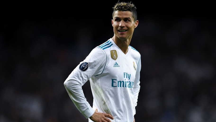 MADRID, SPAIN - MAY 01:  Cristiano Ronaldo of Real Madrid CF celebrates as they reach the final after the UEFA Champions League Semi Final Second Leg match between Real Madrid and Bayern Muenchen at the Bernabeu on May 1, 2018 in Madrid, Spain.  (Photo by David Ramos/Getty Images)