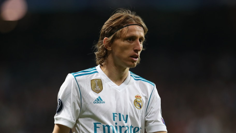 MADRID, SPAIN - MAY 01: Luka Modric of Real Madrid during the UEFA Champions League Semi Final Second Leg match between Real Madrid and Bayern Muenchen at the Bernabeu on May 1, 2018 in Madrid, Spain. (Photo by Catherine Ivill/Getty Images)