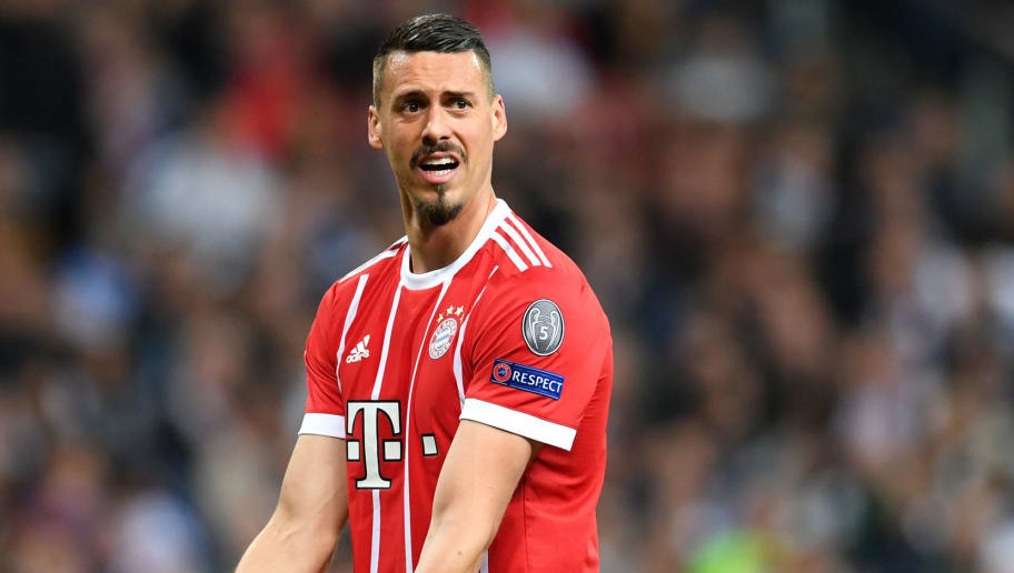 MADRID, SPAIN - MAY 01:  Sandro Wagner of Bayern Muenchen reacts during the UEFA Champions League Semi Final Second Leg match between Real Madrid and Bayern Muenchen at the Bernabeu on May 1, 2018 in Madrid, Spain.  (Photo by Matthias Hangst/Bongarts/Getty Images)