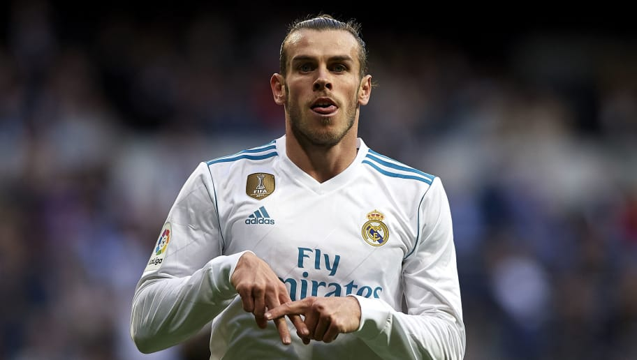 MADRID, SPAIN - MAY 12:  Gareth Bale of Real Madrid celebrates scoring his team's first goal during the La Liga match between Real Madrid and Celta de Vigo at Estadio Santiago Bernabeu on May 12, 2018 in Madrid, Spain.  (Photo by Quality Sport Images/Getty Images)