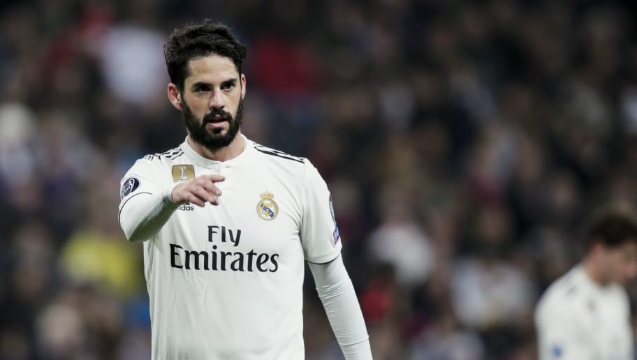 MADRID, SPAIN - DECEMBER 12: Isco of Real Madrid during the UEFA Champions League  match between Real Madrid v CSKA Moskou at the Santiago Bernabeu on December 12, 2018 in Madrid Spain (Photo by David S. Bustamante/Soccrates/Getty Images)