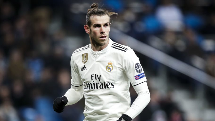 MADRID, SPAIN - DECEMBER 12: Gareth Bale of Real Madrid during the UEFA Champions League  match between Real Madrid v CSKA Moskou at the Santiago Bernabeu on December 12, 2018 in Madrid Spain (Photo by David S. Bustamante/Soccrates/Getty Images)