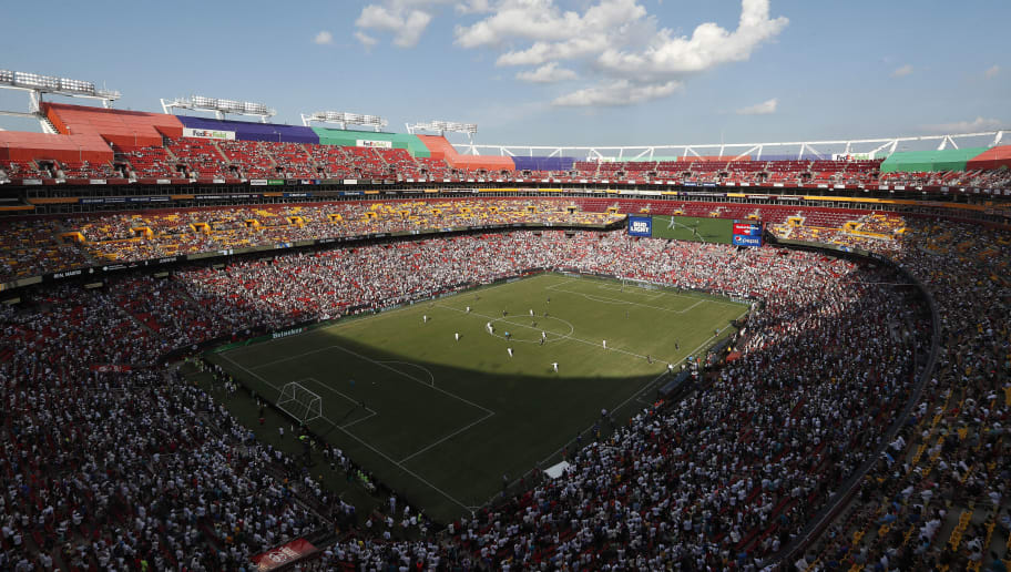 LANDOVER, MD - AUGUST 04: General view inside the stadium during the International Champions Cup at FedExField on August 4, 2018 in Landover, Maryland. (Photo by Patrick Smith/International Champions Cup/Getty Images)