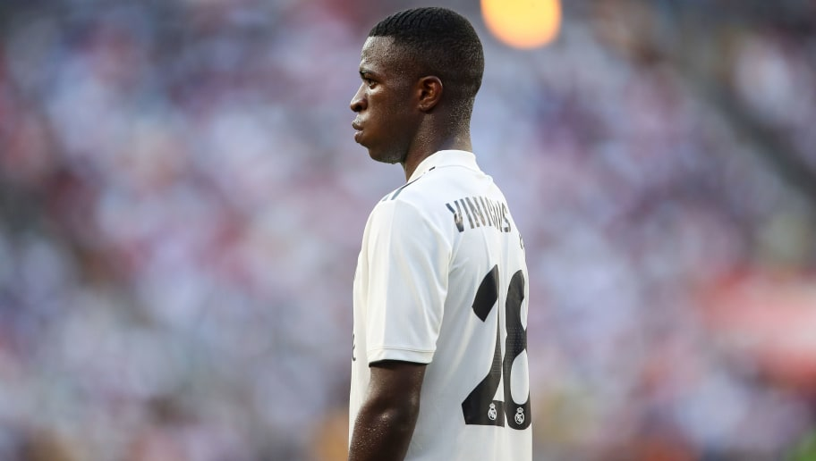 LANDOVER, MD - AUGUST 04: Vinicius Junior of Real Madrid during the International Champions Cup 2018 future between Real Madrid v Juventus at FedExField on August 4, 2018 in Landover, Maryland. (Photo by Robbie Jay Barratt - AMA/Getty Images)