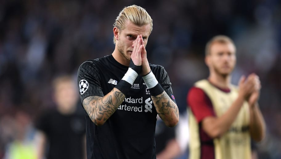 KIEV, UKRAINE - MAY 26:  Loris Karius of Liverpool looks dejected in defeat after the UEFA Champions League Final between Real Madrid and Liverpool at NSC Olimpiyskiy Stadium on May 26, 2018 in Kiev, Ukraine.  (Photo by Laurence Griffiths/Getty Images)