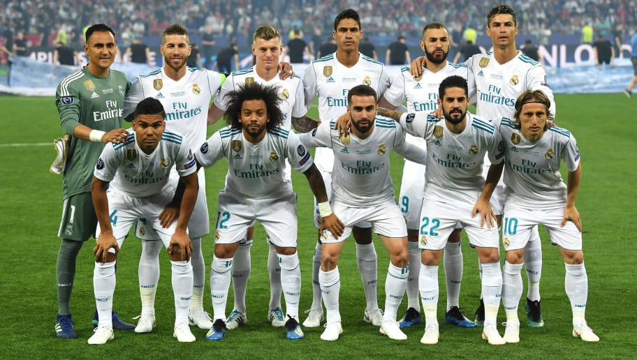 f60eeac65 Superstition  Real Madrid s Starting XI s Team Photo in Kiev Exactly ...
