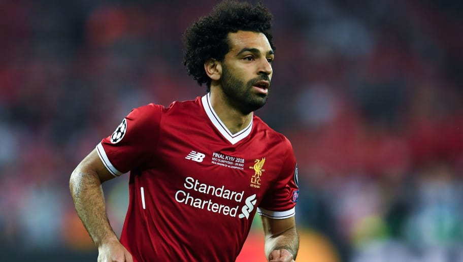 KIEV, UKRAINE - MAY 26:  Mohamed Salah of Liverpool looks on during the UEFA Champions League final between Real Madrid and Liverpool on May 26, 2018 in Kiev, Ukraine.  (Photo by David Ramos/Getty Images)