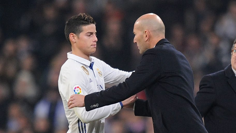 James Rodriguez,Zinedine Zidane
