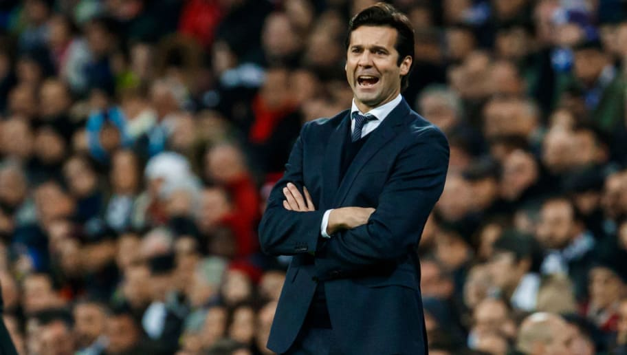 MADRID, SPAIN - DECEMBER 01: Head coach Santiago Solari of Real Madrid looks on during the La Liga match between Real Madrid v Valencia at the Santiago Bernabeu on December 1, 2018 in Madrid Spain. (Photo by TF-Images/TF-Images via Getty Images)