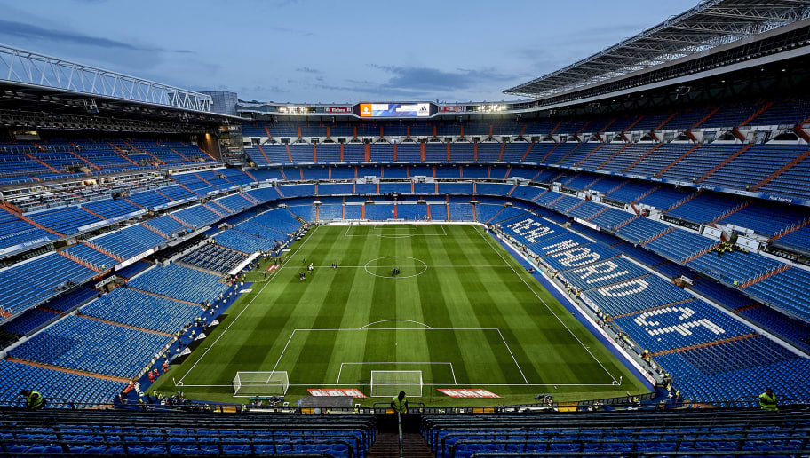 MADRID, SPAIN - AUGUST 27:  General view of the Santiago Bernabeu prior to the La Liga match between Real Madrid and Valencia at Estadio Santiago Bernabeu on August 27, 2017 in Madrid, Spain.  (Photo by fotopress/Getty Images)