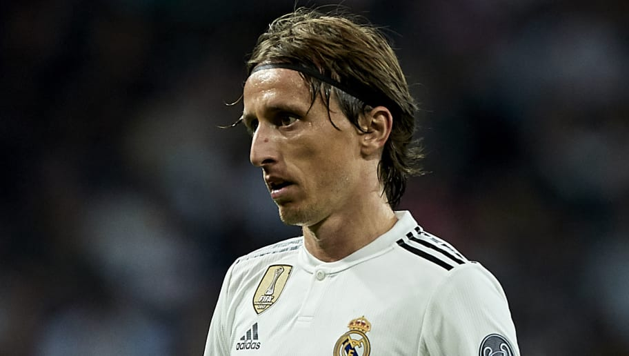 MADRID, SPAIN - OCTOBER 23:  Luka Modric of Real Madrid looks on during the Group G match of the UEFA Champions League between Real Madrid  and Viktoria Plzen at Bernabeu on October 23, 2018 in Madrid, Spain.  (Photo by Quality Sport Images/Getty Images)