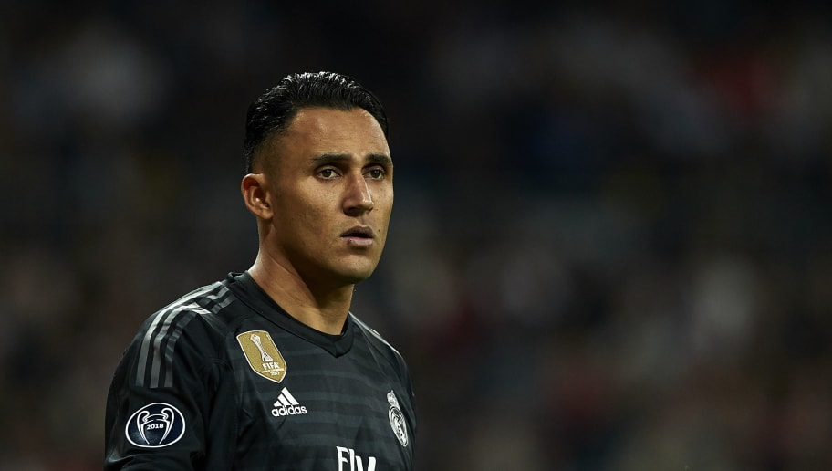 MADRID, SPAIN - OCTOBER 23: Keylor Navas of Real Madrid looks on during the Group G match of the UEFA Champions League between Real Madrid  and Viktoria Plzen at Bernabeu on October 23, 2018 in Madrid, Spain.  (Photo by Quality Sport Images/Getty Images)