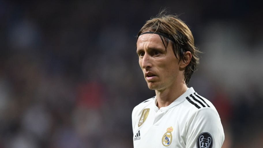MADRID,SPAIN - OCTOBER 23: Luka Modric of Real Madrid looks on during the Group G match of the UEFA Champions League between Real Madrid and Viktoria Plzen at Bernabeu on October 23, 2018 in Madrid, Spain. (Photo by Etsuo Hara/Getty Images)