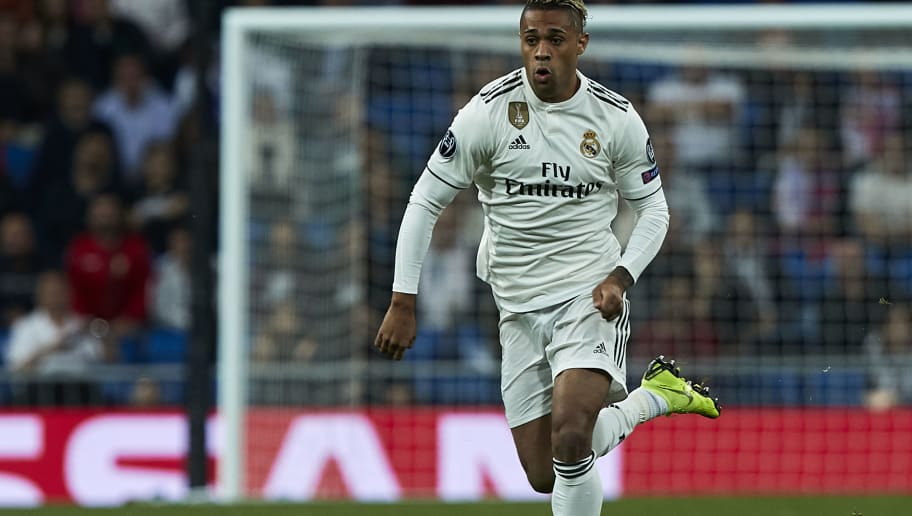 MADRID, SPAIN - OCTOBER 23:  Mariano Diaz of Real Madrid in action during the Group G match of the UEFA Champions League between Real Madrid  and Viktoria Plzen at Bernabeu on October 23, 2018 in Madrid, Spain.  (Photo by Quality Sport Images/Getty Images)