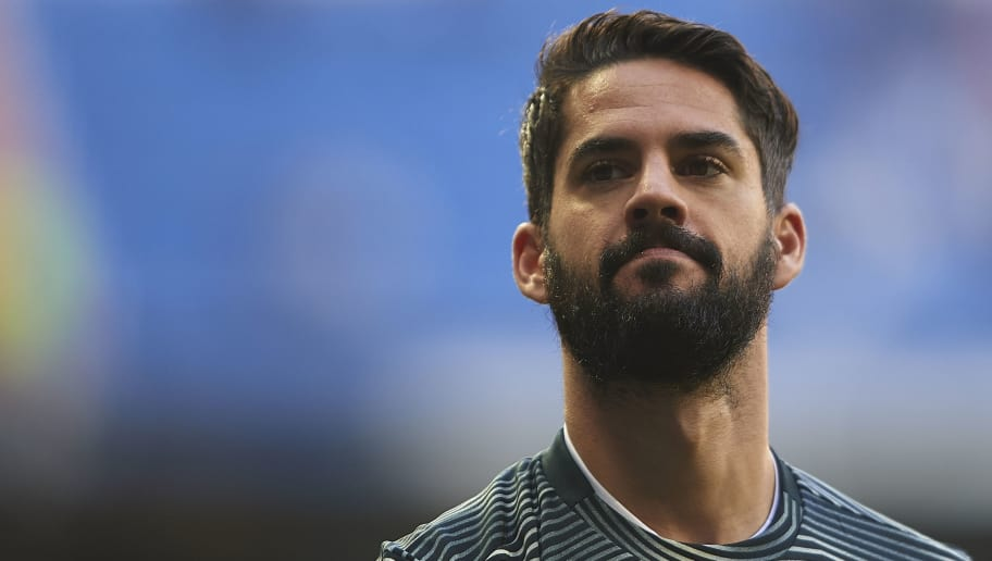 MADRID, SPAIN - DECEMBER 06: Isco Alarcon of Real Madrid looks on prior to the Spanish Copa del Rey second leg match between Real Madrid and UD Melilla at Santiago Bernabeu on December 06, 2018 in Madrid, Spain. (Photo by Quality Sport Images/Getty Images)