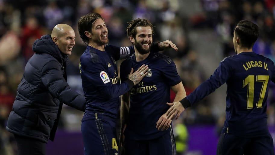 Lucas Vazquez,Nacho,Sergio Ramos,Zinedine Zidane