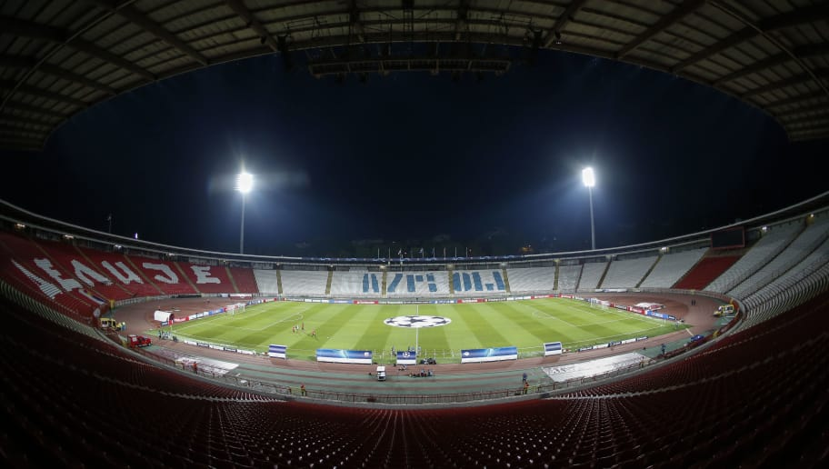 BELGRADE, SERBIA - AUGUST 21: General view of the stadium prior to the UEFA Champions League Play Off First Leg match between FK Crvema Zvezda and FC Red Bull Salzburg at Rajko Mitic Stadium on August 21, 2018 in Belgrade, Serbia. (Photo by Srdjan Stevanovic/Getty Images)