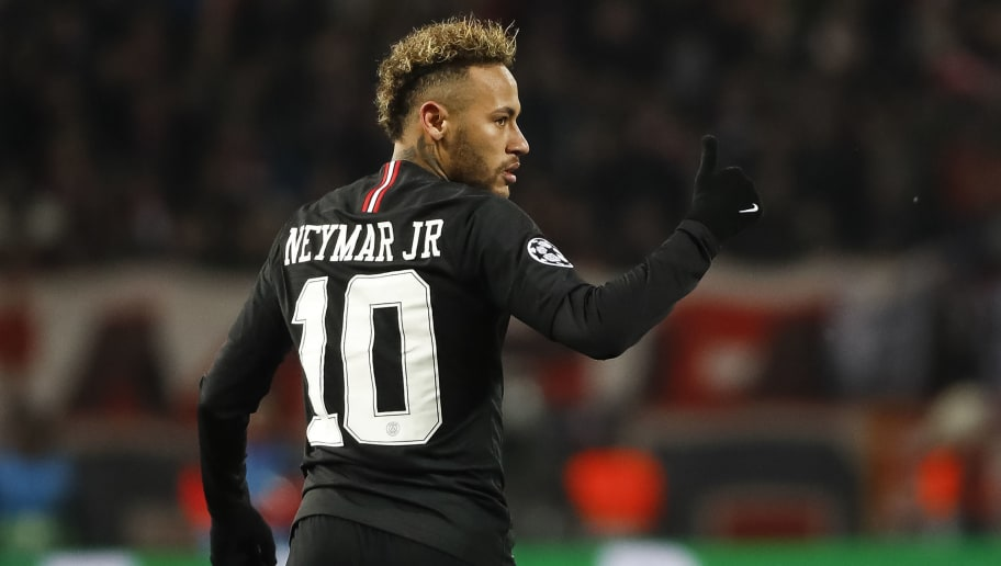 BELGRADE, SERBIA - DECEMBER 11: Neymar of Paris Saint-Germain reacts during the UEFA Champions League Group C match between Red Star Belgrade and Paris Saint-Germain at Rajko Mitic Stadium on December 11, 2018 in Belgrade, Serbia. (Photo by Srdjan Stevanovic/Getty Images)