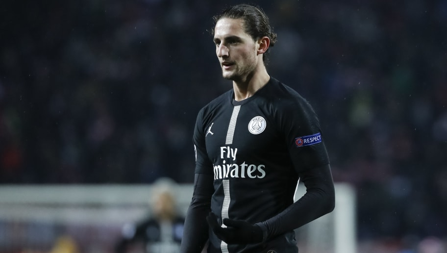 BELGRADE, SERBIA - DECEMBER 11: Adrien Rabiot of Paris Saint-Germain looks on during the UEFA Champions League Group C match between Red Star Belgrade and Paris Saint-Germain at Rajko Mitic Stadium on December 11, 2018 in Belgrade, Serbia. (Photo by Srdjan Stevanovic/Getty Images)