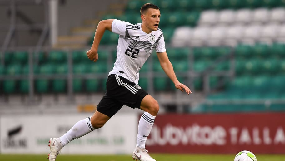 DUBLIN, IRELAND - SEPTEMBER 11: Maximilian Eggestein of Germany in action the 2019 UEFA European Under-21 Championship Qualifier between Republic of Ireland U21 and Germany U21 on September 11, 2018 in Dublin, Ireland. (Photo by Harry Murphy/Bongarts/Getty Images)
