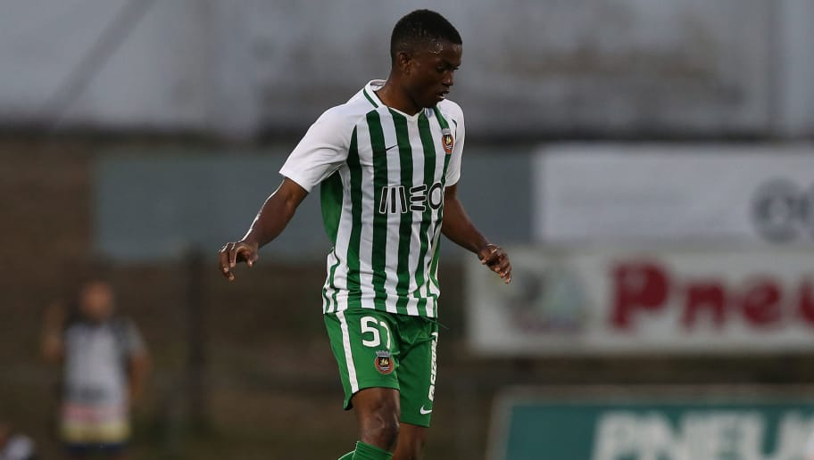 VILA DO CONDE, PORTUGAL - AUGUST 2:  Gelson Dala of Rio Ave FC in action during the UEFA Europa League Second Qualifying Round 2nd Leg match between Rio Ave FC and Jagiellonia at Estadio dos Arcos on August 2, 2018 in Vila do Conde, Portugal.  (Photo by Gualter Fatia/Getty Images)