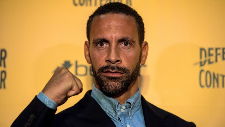 LONDON, ENGLAND - SEPTEMBER 19:  Rio Ferdinand poses for photos during a press conference at The Town Hall Hotel on September 19, 2017 in London, England. Retired England international footballer Rio Ferdinand announced at the press conference that he is training to become a professional boxer. Ferdinand will fight a succession of bouts in 2017 and 2018 with the ultimate aim to box for a title belt.  (Photo by Chris J Ratcliffe/Getty Images)