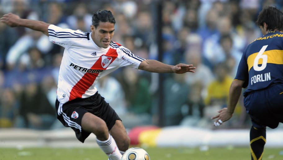 River Plate's footballer Radamel Falcao