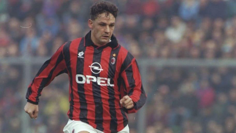 Roberto Baggio of AC Milan