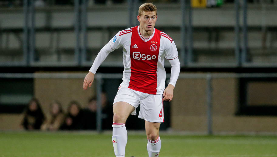 KERKRADE, NETHERLANDS - DECEMBER 19: Matthijs de Ligt of Ajax  during the Dutch KNVB Beker  match between Roda JC v Ajax at the Parkstad Limburg Stadium on December 19, 2018 in Kerkrade Netherlands (Photo by Erwin Spek/Soccrates/Getty Images)