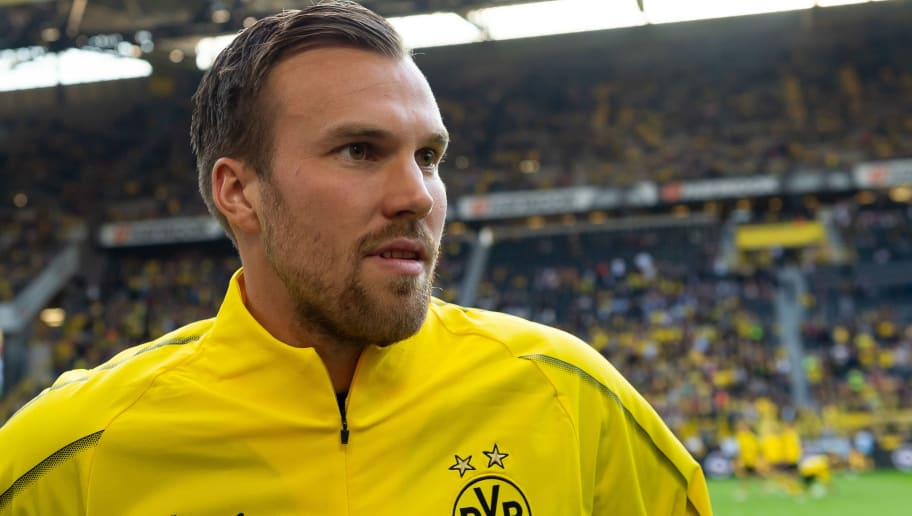 DORTMUND, GERMANY - SEPTEMBER 07: Kevin Grosskreutz (BVB Allstars) looks on during the Roman Weidenfeller Farewell Match between BVB Allstars and Roman and Friends at Signal Iduna Park on September 7, 2018 in Dortmund, Germany. (Photo by TF-Images/Getty Images)