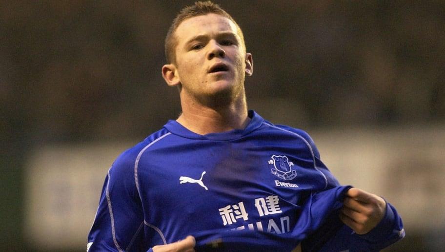 Rooney celebrates scoring