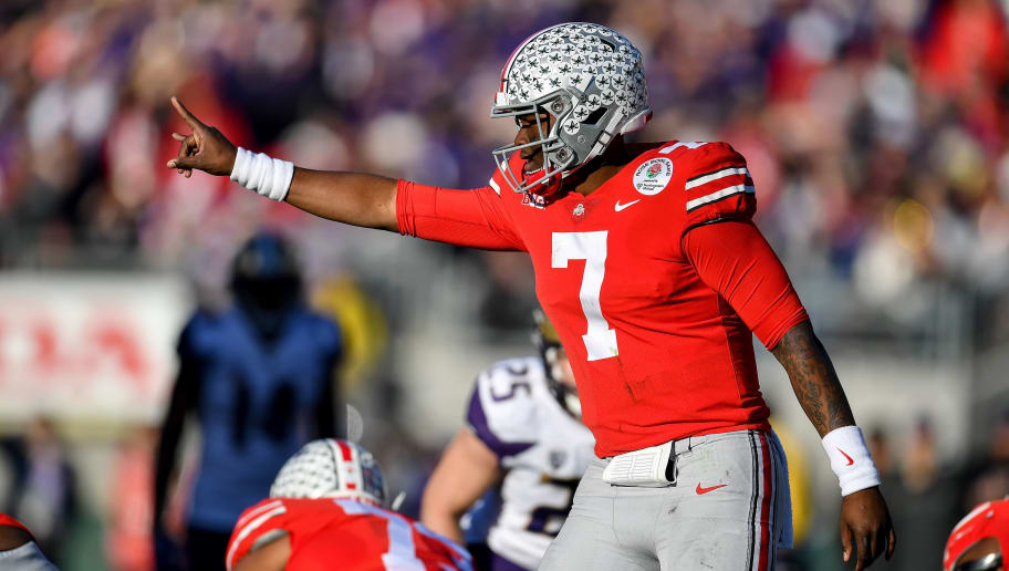 Dwayne Haskins #7 of the Ohio State Buckeyes
