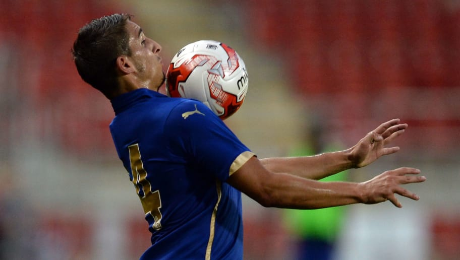 ROTHERHAM, ENGLAND - AUGUST 05:  Anthony Knockaert of Leicester City during the Pre Season Friendly match between Rotherham United and Leicester City at The New York Stadium on August 5, 2014 in Rotherham, England.  (Photo by Nigel Roddis/Getty Images)