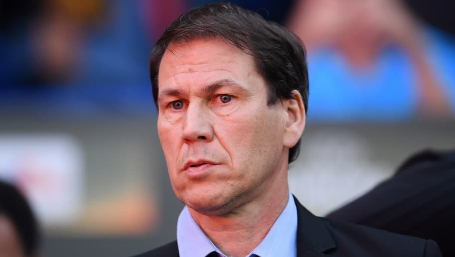 LYON, FRANCE - MAY 16:  Rudi Garcia head coach of Marseille looks on prior to the UEFA Europa League Final between Olympique de Marseille and Club Atletico de Madrid at Stade de Lyon on May 16, 2018 in Lyon, France.  (Photo by Laurence Griffiths/Getty Images)